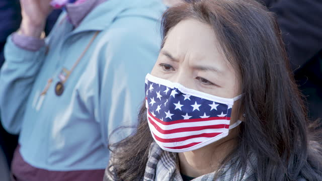 vídeos de stock e filmes b-roll de protesting the result of the 2020 us presidential elections thousands of president donald trump supporters rally in washington dc's freedom plaza for... - número 12