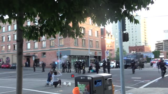 protestors clash with police. - tear gas stock videos & royalty-free footage