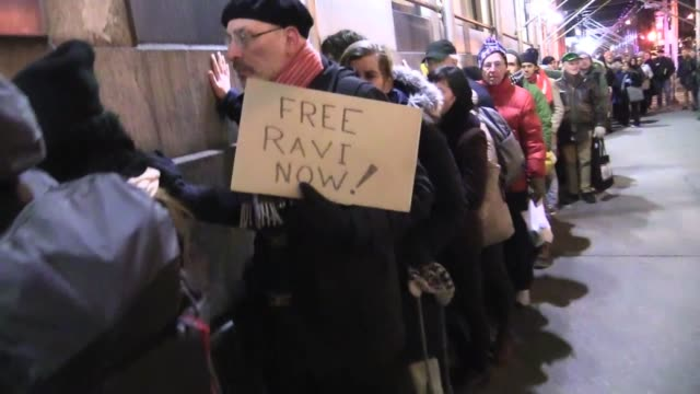 protestors from new sanctuary coalition where ravi ragbir is executive director, place hands on ice building at 201 varick street in support of... - executive director stock videos & royalty-free footage