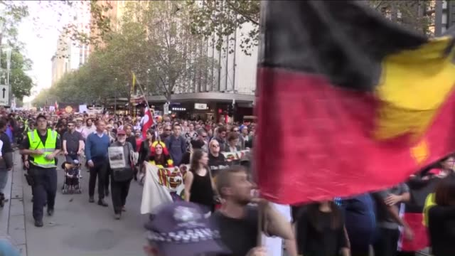 protestors gather at swansdon street attend a rally protesting against the forced closure of aboriginal communities in melbourne australia on may 01... - protestor stock videos & royalty-free footage