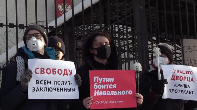 UKR: Protest in support of Russian opposition leader Alexei Navalny in Kyiv