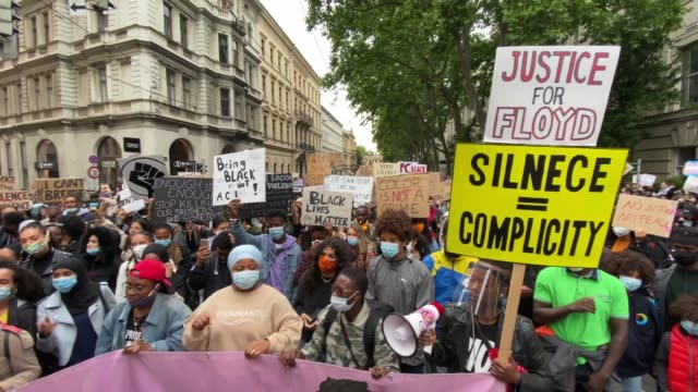 AUT: Black Lives Matter Protest At U.S. Embassy In Vienna