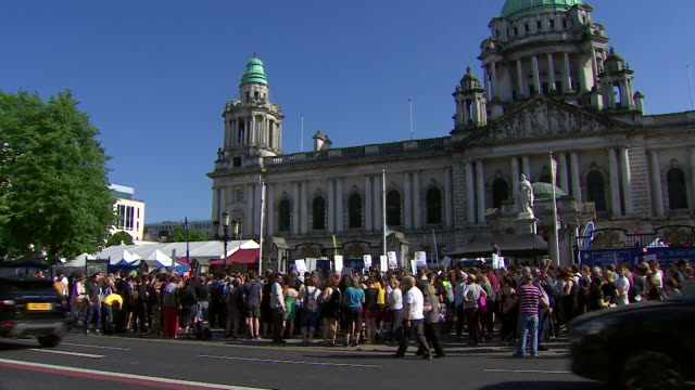 protestors in belfast calling for prochoice abortion laws in northern ireland - northern ireland stock videos & royalty-free footage