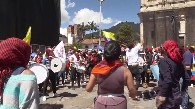 protestors, mostly students, in colombian capital bogota took the streets for a peaceful anti-government protest on wednesday . anti-government... - number 8 stock videos & royalty-free footage