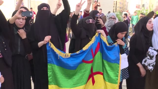 protests continue in morocco's north which has been rocked by social unrest since the arrest in may of the leader of a protest movement - social movement stock videos and b-roll footage