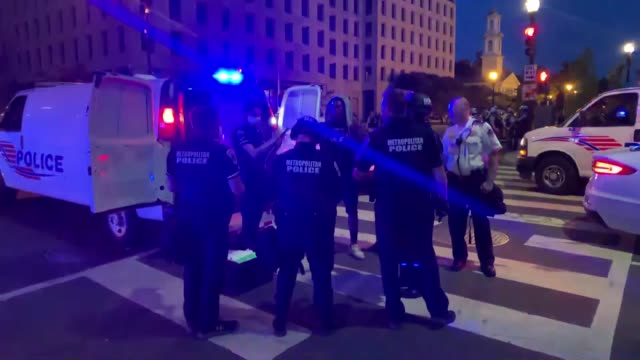 c us june 1 2020 protests continued in the us capital for a fourth day monday over the death of george floyd with demonstrators flocking to lafayette... - lafayette square washington dc stock videos & royalty-free footage