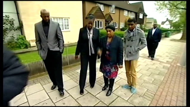 protests follow george zimmerman acquittal of trayvon martin shooting lib london eltham ext various of doreen lawrence and sybrina fulton and family... - acquittal stock videos and b-roll footage