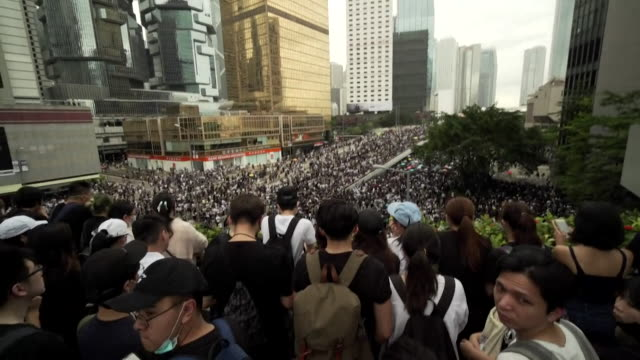 protests in centre of hong kong over the extradition bill - bill legislation stock videos & royalty-free footage