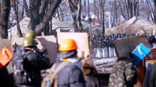 protests in kiev - february 2014 - 2014 stock videos and b-roll footage
