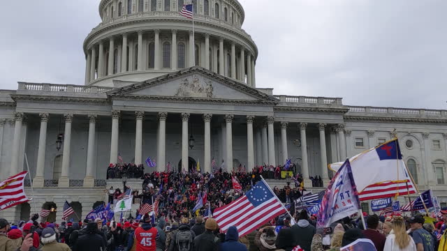 protests on the east side of the us capitol in washington, d.c. on wednesday, january 6, 2021. - capitol hill stock videos & royalty-free footage
