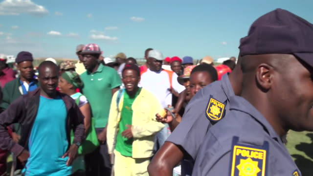 protests over alleged illegal 'landgrabbing' in johannesburg south africa - south africa stock videos & royalty-free footage