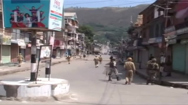 protests rose up in indian administered kashmir's northern district  baramulla against the killing of hijbul mujahideen militant commander burhan... - militant groups stock videos and b-roll footage