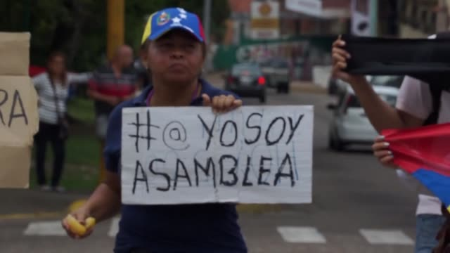 protests take place in san cristobal in venezuela despite judges on saturday retreating from efforts to tighten president nicolas maduro's grip on... - tighten stock videos and b-roll footage