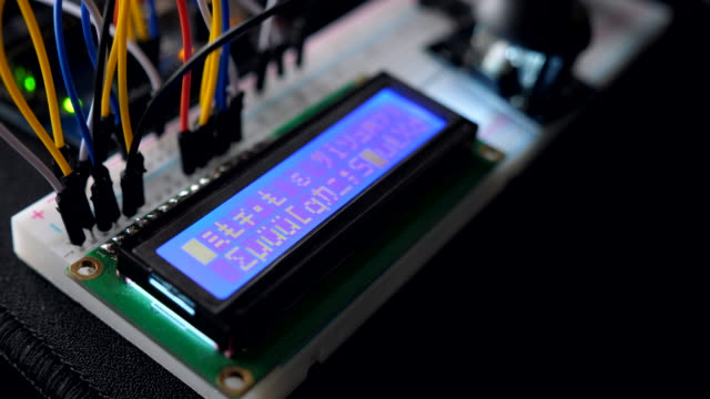 iot prototype device with lcd module, hacking device - symbol stock videos & royalty-free footage