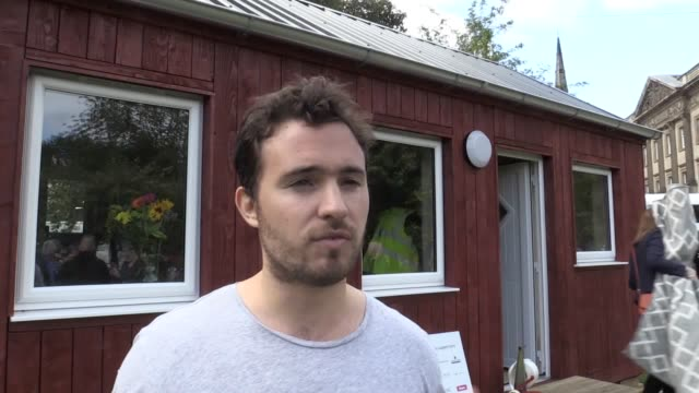a prototype house to be used in the new social bite village for homeless people has been unveiled in edinburgh by cofounder of the chain josh... - homeless person stock videos & royalty-free footage
