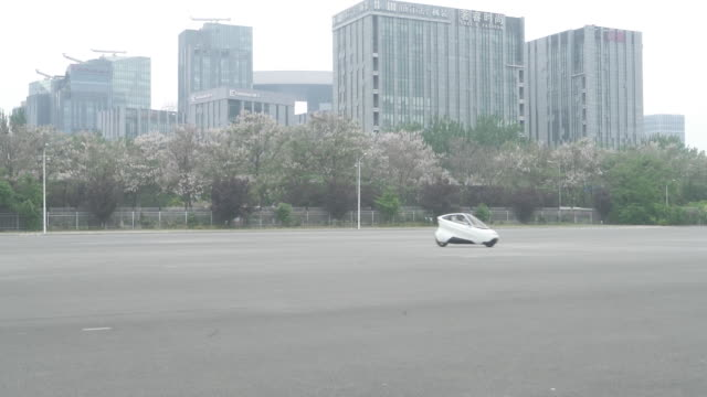a prototype of beijing lingyun intelligent technology co's 1703 autonomous twowheeled electric gyrocar in beijing china on friday may 11 2018 - driverless car stock videos & royalty-free footage