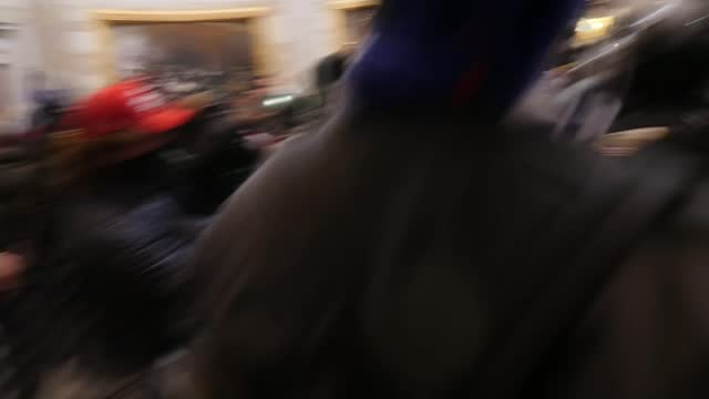 pro-trump protesters storm us capitol building; usa: washington dc: us capitol building: int various shots of police trying to push back protesters... - pushing stock videos & royalty-free footage
