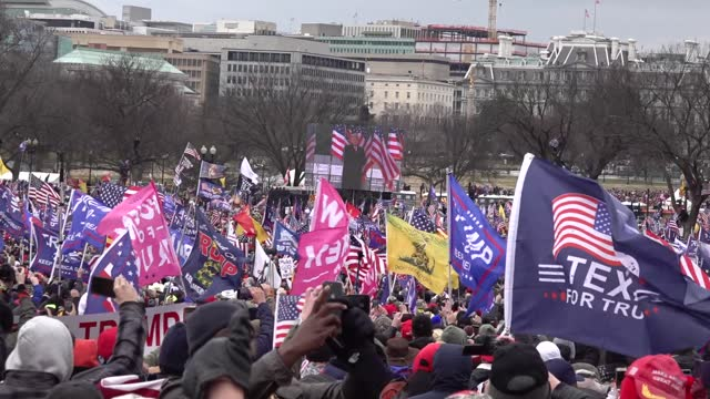 pro-trump supporters storm the u.s. capitol following a rally with president donald trump on january 6, 2021 in washington, dc. trump supporters... - political rally stock videos & royalty-free footage