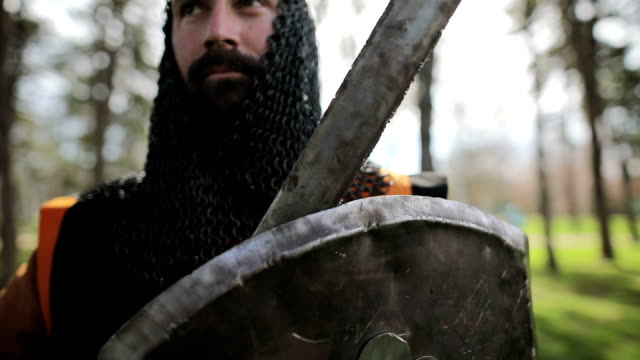 proud knight after the battle - medieval stock videos & royalty-free footage