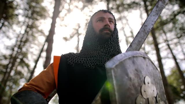Stolze Ritter nach der Schlacht