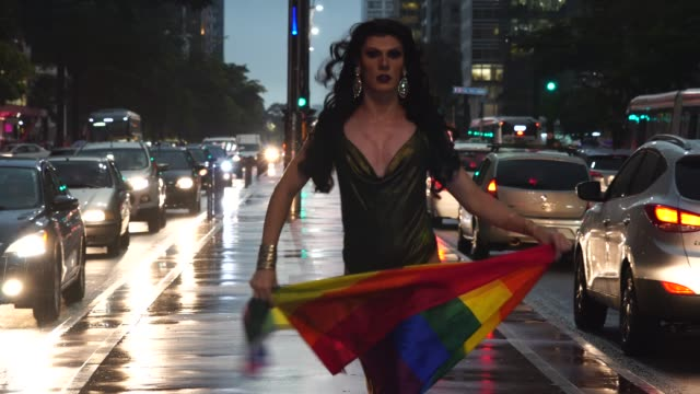 proud to be gay - drag queen stock videos and b-roll footage