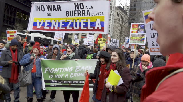ProVenezuelan and ProNicolás Maduro protest Supporters of Venezuelan President Nicolás Maduro and against US military intervention in Venezuela and...