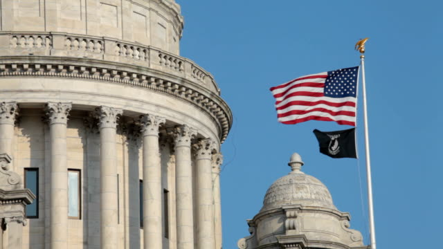 プロヴィデンス州議事堂米国の旗