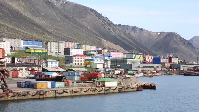 provideniya city in chukotka russia - coal mine stock videos & royalty-free footage