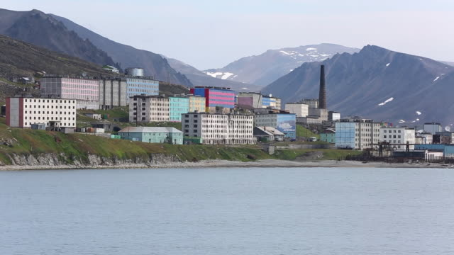 provideniya city in chukotka, russia - coal mine stock videos & royalty-free footage