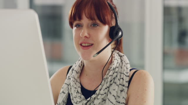 providing the most efficient customer support to her clients - headset stock videos & royalty-free footage