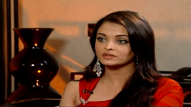 'Provoked' Film premiere of film about truelife battered wife Aishwarya Rai interview SOT Talks about other women experiencing domestic violence