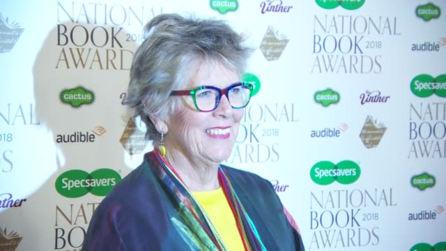 prue leith at the specsavers national book awards on november 20 2018 in london england - prudence leith stock videos & royalty-free footage