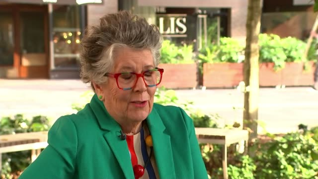 prue leith to advise government review into hospital food after listeria deaths england ext prue leith interview sot - prudence leith stock videos & royalty-free footage