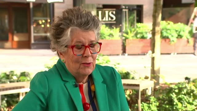 prue leith to advise government review into hospital food after listeria deaths england ext prue leith interview sot - prudence leith stock videos and b-roll footage