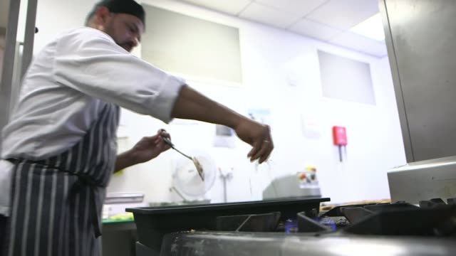 prue leith to advise government review into hospital food after listeria deaths england london royal marsden hospital int various shots of chefs... - prudence leith stock videos & royalty-free footage