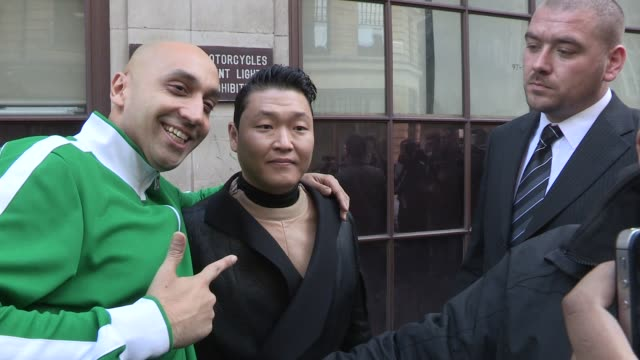 psy leaving bbc radio two on november 08, 2012 in london, england - bbc radio stock videos & royalty-free footage