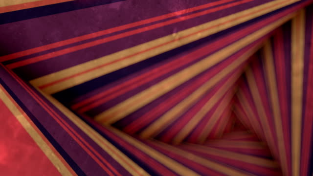 a psychedelic 3d render loop animation of an optical illusion created by multi colored stripes rotating in a tunnel with spiraling effect. hd resolution - optical illusion stock videos & royalty-free footage