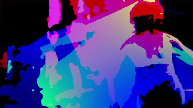 psychedelisch duo - künstlerische darbietungen stock-videos und b-roll-filmmaterial