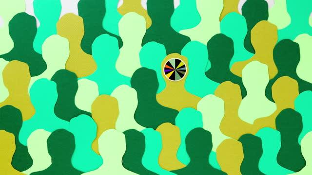 psychedelischer grüner mann - männliche figur stock-videos und b-roll-filmmaterial