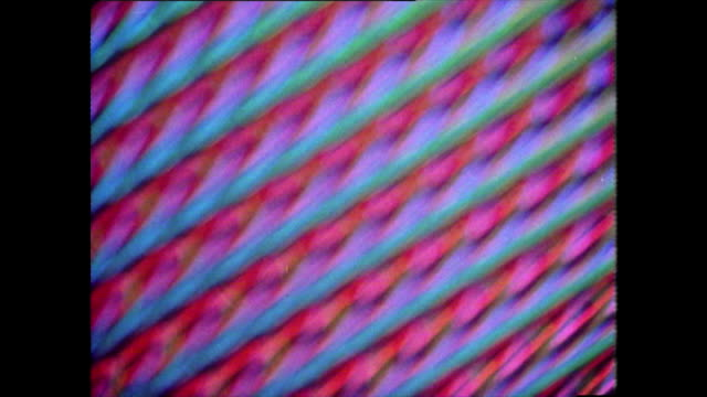 psychedelic pattern sequence from 1976 - bbc archive stock-videos und b-roll-filmmaterial