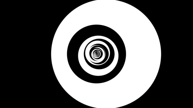 psychedelic, swirling circles - greyscale stock videos & royalty-free footage
