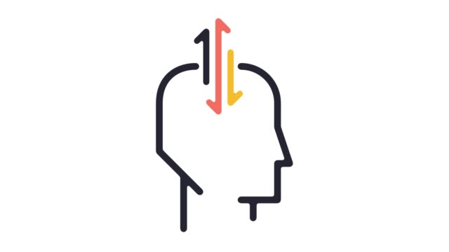 psychological research line icon animation with alpha - wisdom stock videos & royalty-free footage