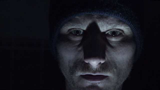 psychopath 叫びカメラ - 見つめる点の映像素材/bロール