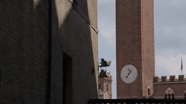 Pubblico Palace Campanile, Siena, Tuscany, Italy, Europe