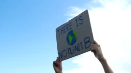 Public demonstration against global warming and pollution