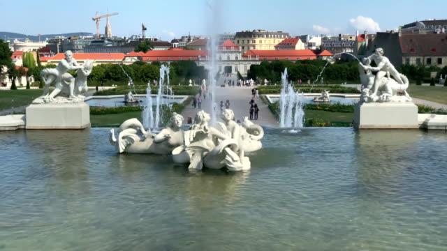 パブリック ガーデン ベルヴェデレ - ベルヴェデーレ宮殿点の映像素材/bロール