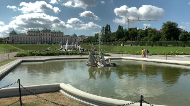 vidéos et rushes de jardin public belvédère - palais du belvédère vienne