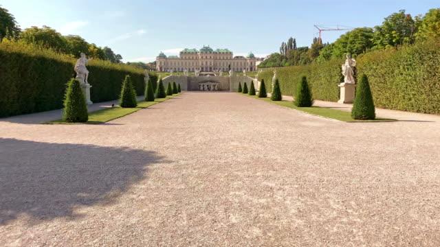 public garden belvedere - belvedere palace vienna stock videos & royalty-free footage