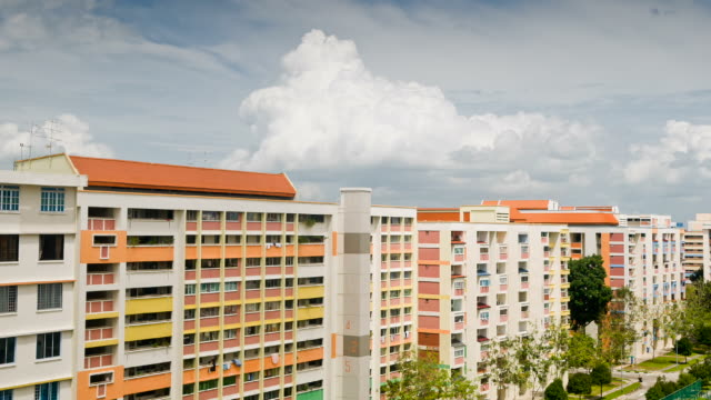 public housing - singapore stock videos & royalty-free footage