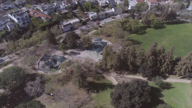 public park beverly hills aerial - century city stock videos & royalty-free footage